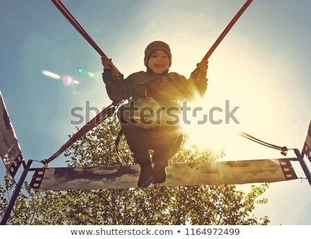 paratrooper flying in the sky Stock photo © OleksandrO