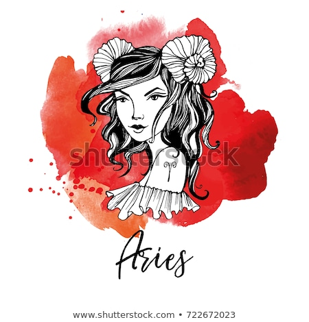 woman aries sign for coloring stock photo © izakowski