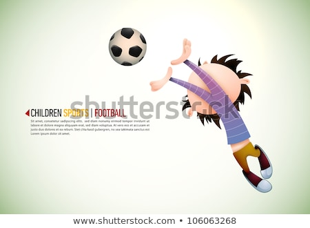 Enfant footballeur gardien de but football eps10 vecteur Photo stock © involvedchannel