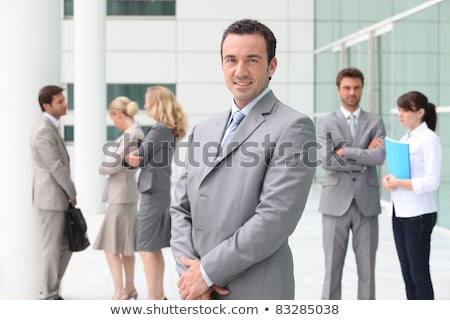 Business people stood outside building Stock photo © photography33