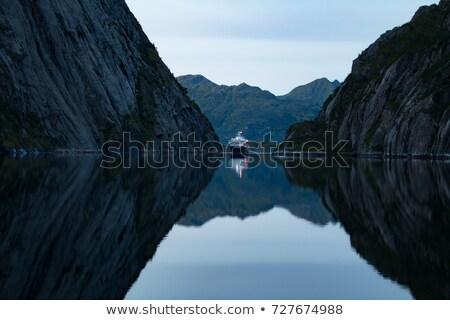 Cruise ship in fjord on Lofoten Stock photo © Harlekino