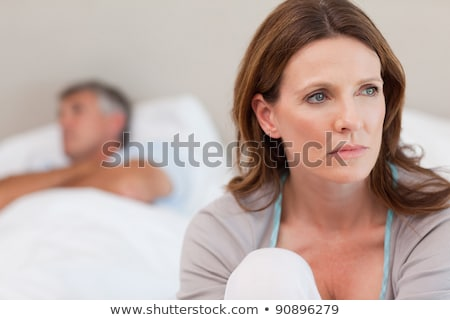 Mature woman frustrated with her husband Stock photo © photography33