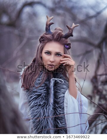 Pretty Fairy Tale Girl With Very Long Hair Stock photo © tobkatrina