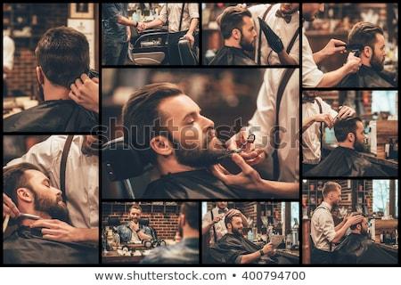 montázs · férfi · kéz · egészség · háttér · száj - stock fotó © photography33