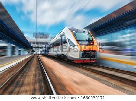 rails and railway Stock photo © njaj