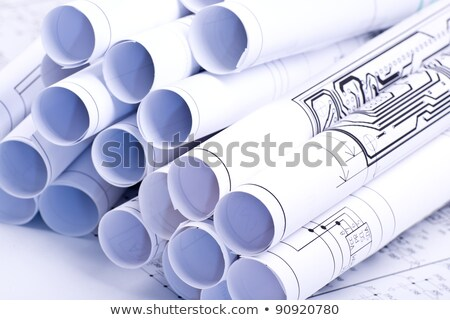 Drawings rolled in a tube Stock photo © a2bb5s