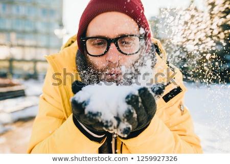 man blowing snow stock photo © melpomene