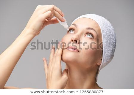 Meisje drugs portret vrouw gezicht Stockfoto © oneinamillion