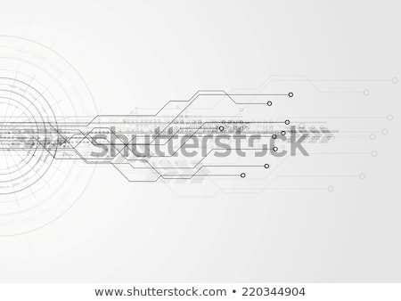 Hi-tech vector circuit board frame vector illustration © Alexey ...