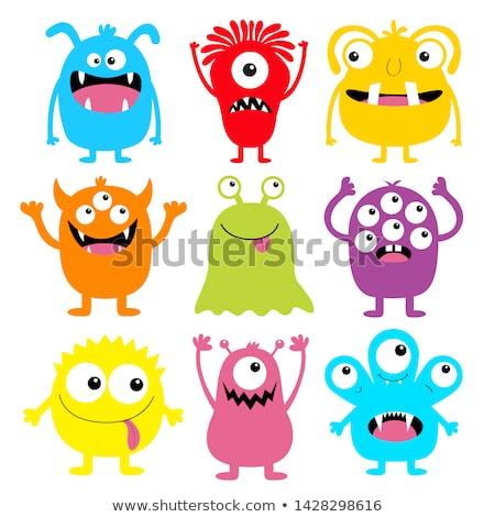 Engraçado monstro ioga eps 10 Foto stock © RAStudio