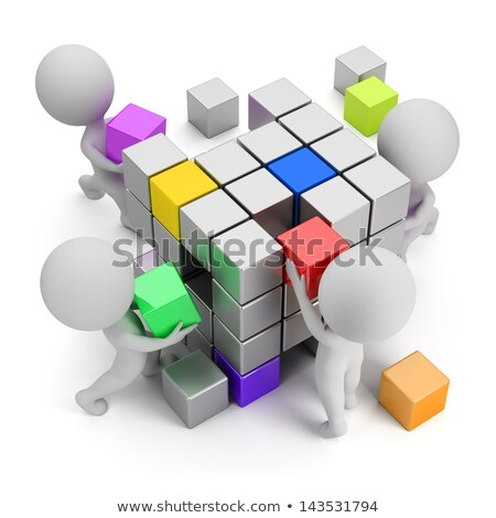 Stock photo: 3d small people - cooperation