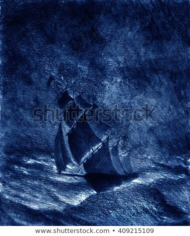 A Sailboat In The Moonlight Stock photo © ankarb