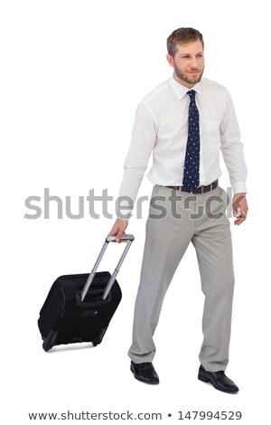Zakenman koffer lopen witte uitvoerende senior Stockfoto © wavebreak_media