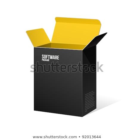 Termék szoftver narancs fekete doboz sötét Stock fotó © Quka