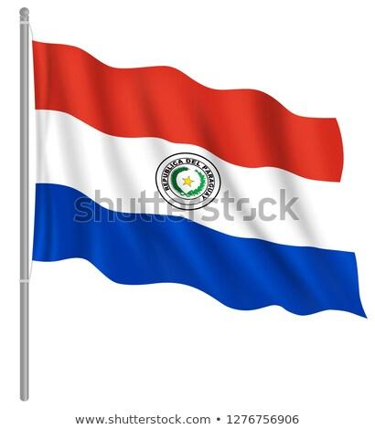 Fabric texture of the flag of Paraguay Stock photo © maxmitzu