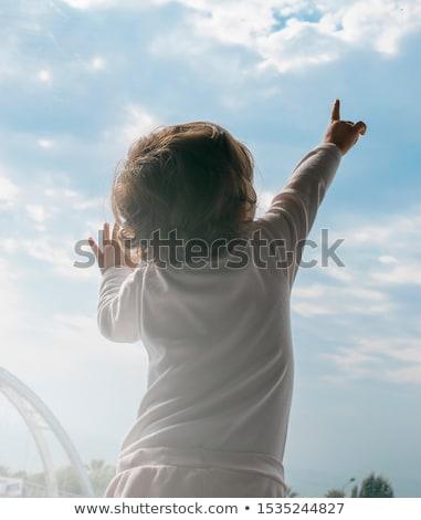 Сток-фото: Hand Pointing To The Sky
