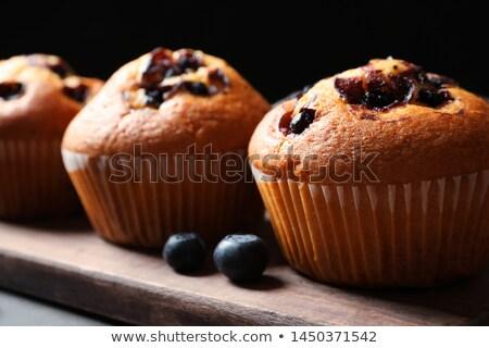 muffin · zwarte · chocolade · achtergrond · cake · eten - stockfoto © wavebreak_media