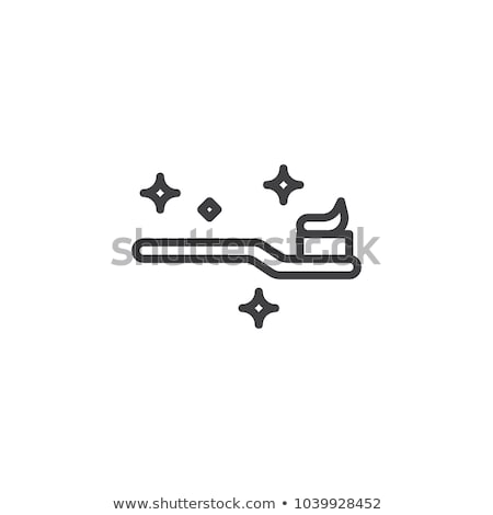 Vector icon tooth brush and paste stock photo © zzve