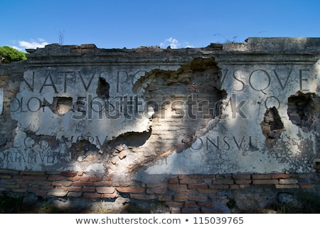 Ancient Roman Road Ruins Ostia Antica Rome Italy Stock photo © billperry