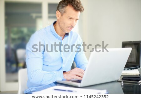 businessman looking at a laptop with his assistant stock photo © photography33