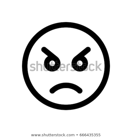 Stock photo: Angry Face