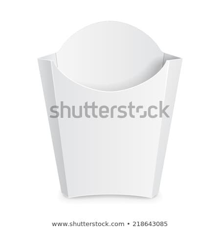 Vazio branco acondicionamento papel caixa Foto stock © przemekklos