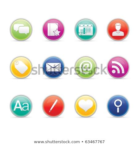 веб-иконы · красный · популярный · музыку · кадр - Сток-фото © radoma