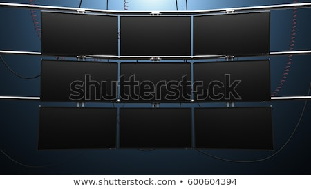 Multimedia supervisar pared amplio Screen colorido Foto stock © Anterovium
