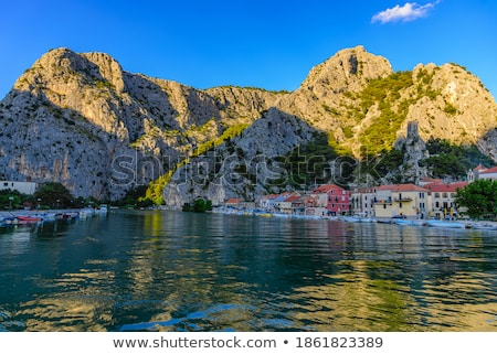 Embankment in Old Town of Omis, Croatia Stock photo © anshar