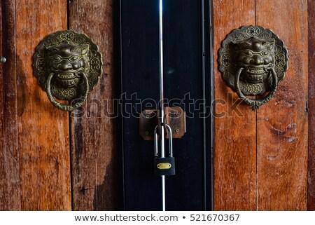 ドア · 古い · ゲート · 男 · 錆 · ロック - ストックフォト © crackerclips