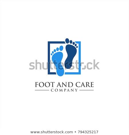 Lábápolás logo üzlet láb fekete fürdő Stock fotó © shawlinmohd