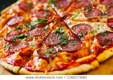 Pepperoni Pizza Close Up Stock photo © stevanovicigor