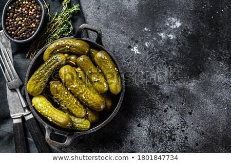 корнишон свежие зеленый соленья белый овощей Сток-фото © joker