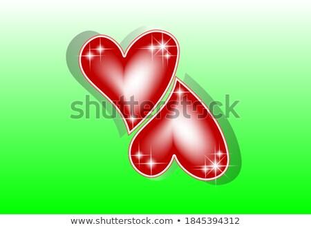 Casamento amor cartão postal rubi coração festa Foto stock © carodi