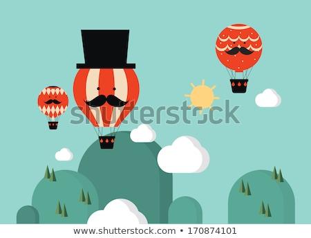 diamond hot-air balloons over clouds Stock photo © TaiChesco