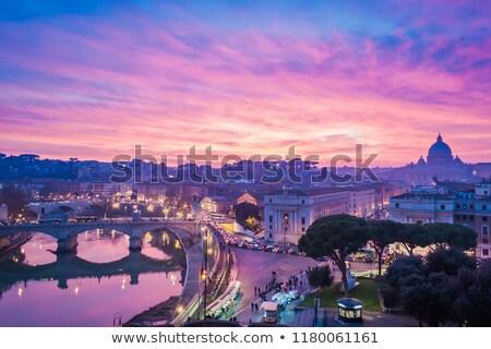 Сток-фото: Рим · закат · моста · фото