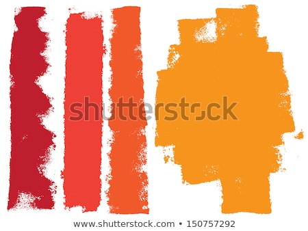 vector set of detailed grunge paint roller strokes Stock photo © odes