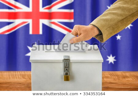 vlag · Australië · australisch · banner · baksteen · textuur - stockfoto © ustofre9