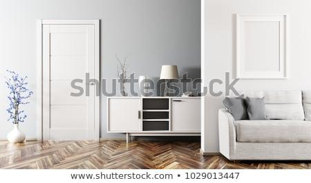 klasszikus · fotel · 3d · render · retro · szoba · öreg - stock fotó © digitalgenetics