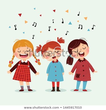 Zdjęcia stock: śpiewu · charakter · muzyki · koncertu · piosenkarka