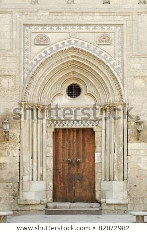 Mezquita puerta Cairo barrio antiguo Egipto calle Foto stock © travelphotography
