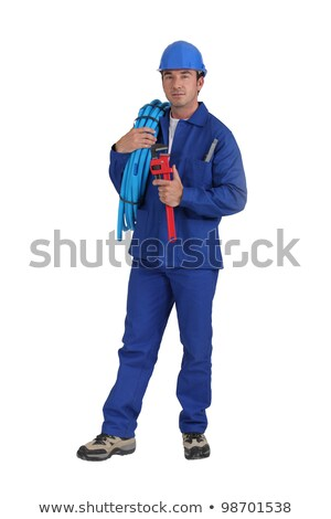 Construction Man Standing and Ready at an Angle Stock photo © 805promo