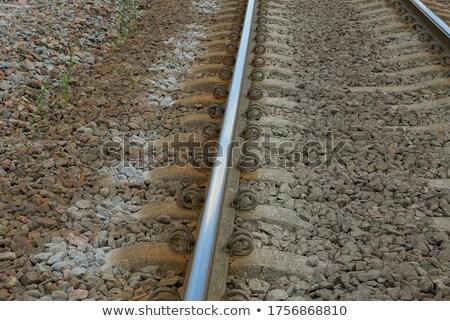 鉄道 · トラック · グレー · 木製 · 垂直 · 画像 - ストックフォト © gewoldi