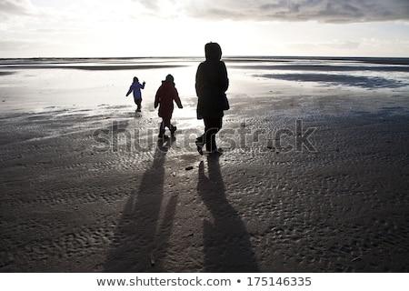 люди глядя янтарь пляж острове Сток-фото © jeancliclac