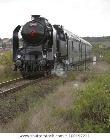 пар поезд Прага Чешская республика моста путешествия Сток-фото © phbcz