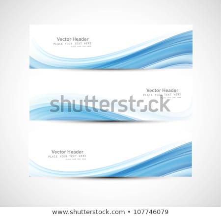 Streszczenie niebieski błyszczący fali wektora Zdjęcia stock © bharat