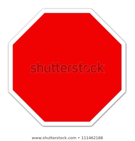 Dur işareti vektör dizayn duman imzalamak kırmızı Stok fotoğraf © burakowski