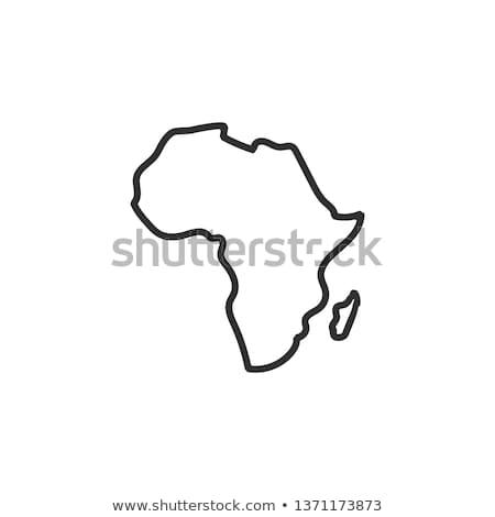 vector · safari · geïsoleerd · witte · boom - stockfoto © vectorpro