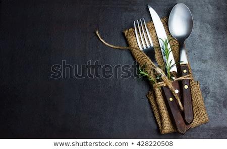 keurig · eettafel · eerste · persoon · perspectief - stockfoto © meinzahn