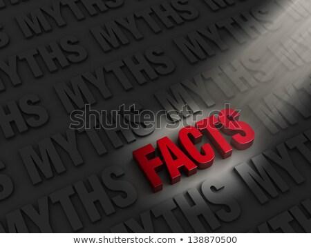 heldere · feiten · vs · donkere · Rood · uit - stockfoto © 3mc